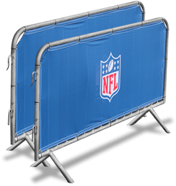 Fence scrim printed with NFL logo