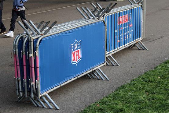 NFL Vestaweave Scrim for crowd control barriers