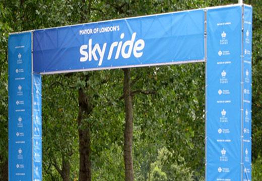 Sky Ride gantry branding in 2016