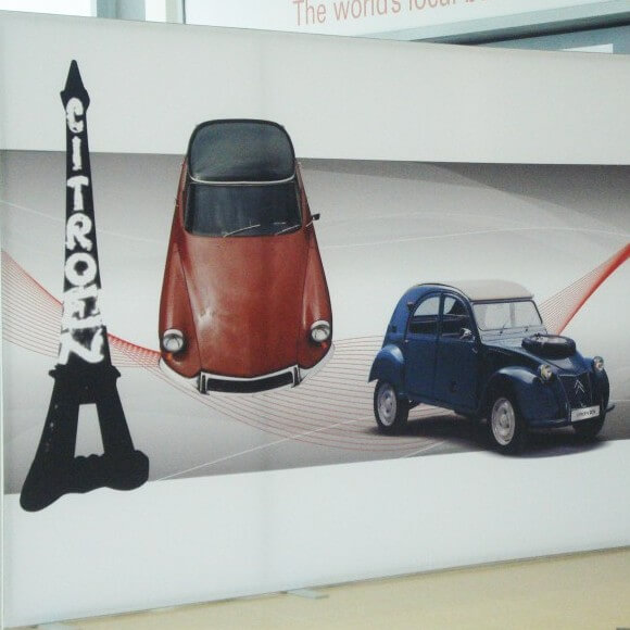 Polyester display Tension Fabric System produced for Citroen
