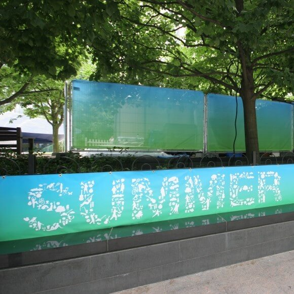 Heras Fence at Canary Wharf