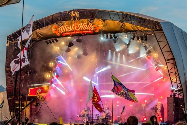 West Holts stage header at Glastonbury