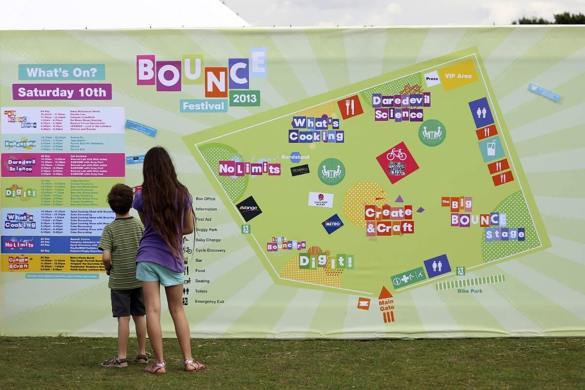 Polyester Display banner at Bounce Festival 2013