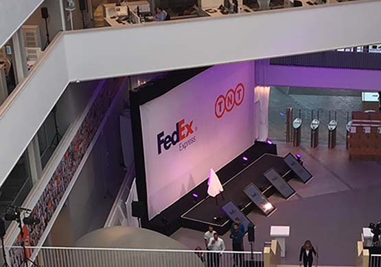 backdrop for FedEx