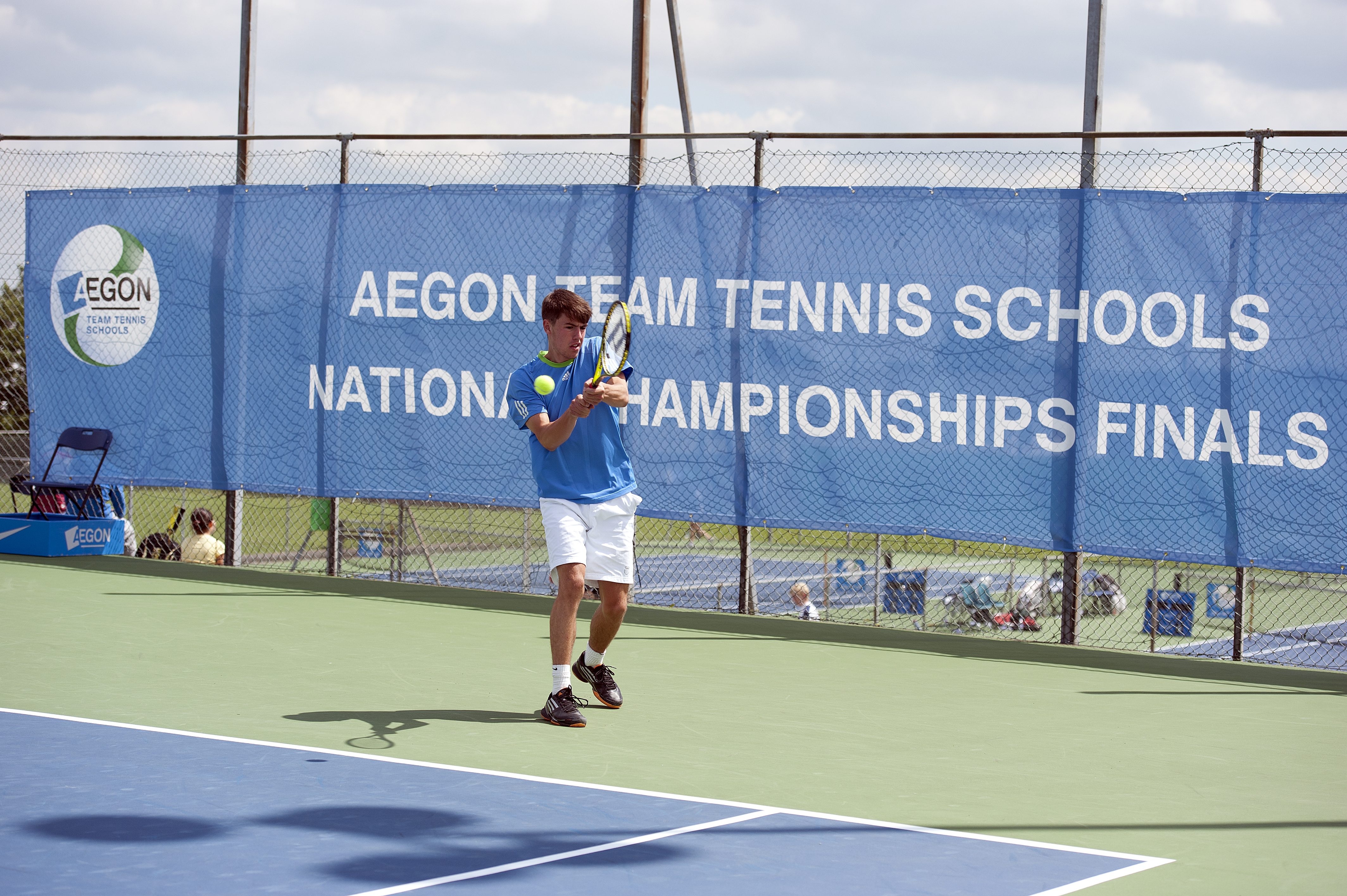 AEGON Tennis School Nationa Championship Finals 2012 with printed Austronet windbreaks