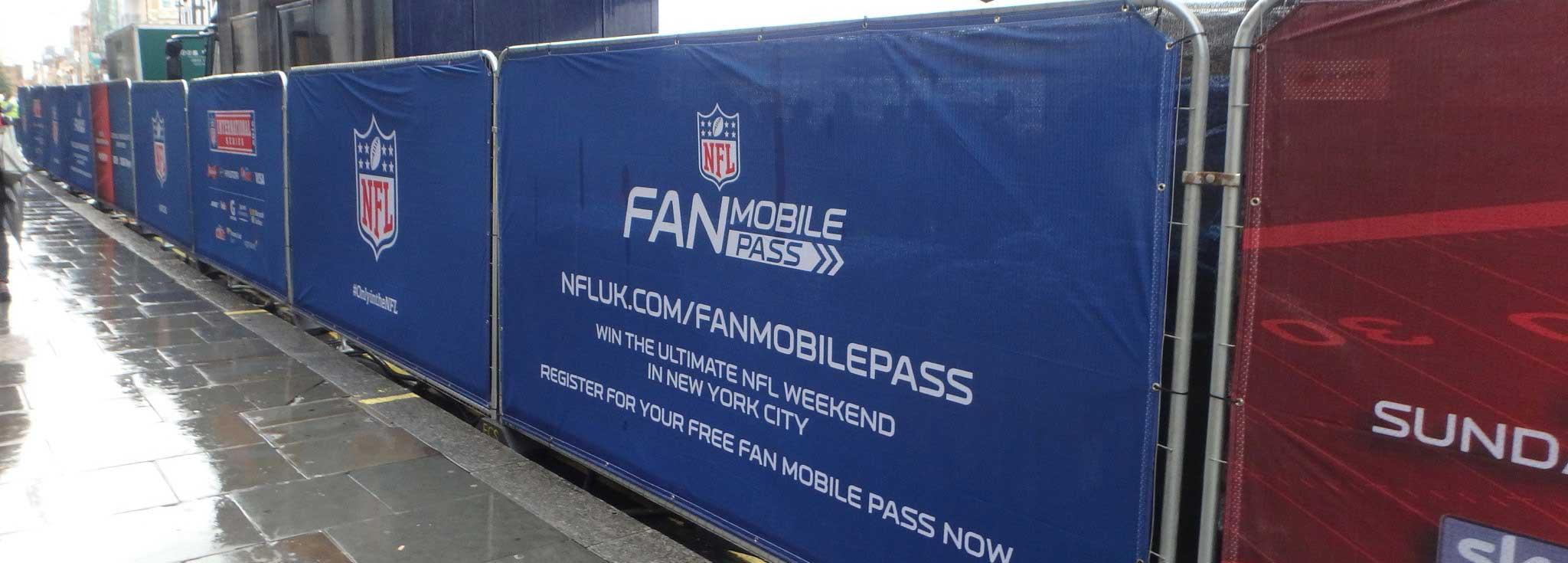NFL fan zone heras fencing