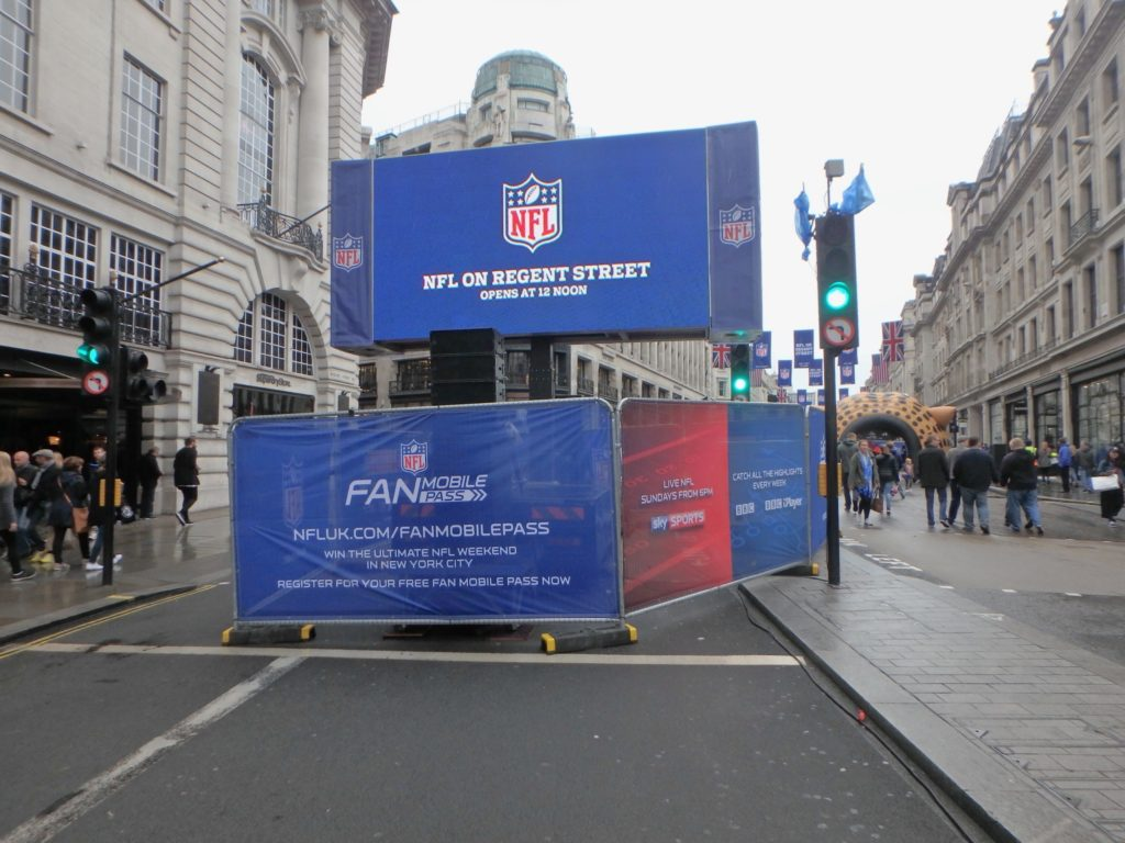 NFL branding heras fences