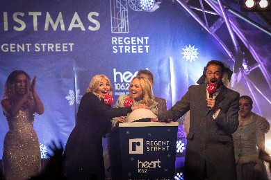 heras fence branding for Regent Street Light switch on