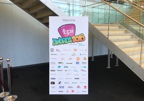 Event branding for TPI awards 2018
