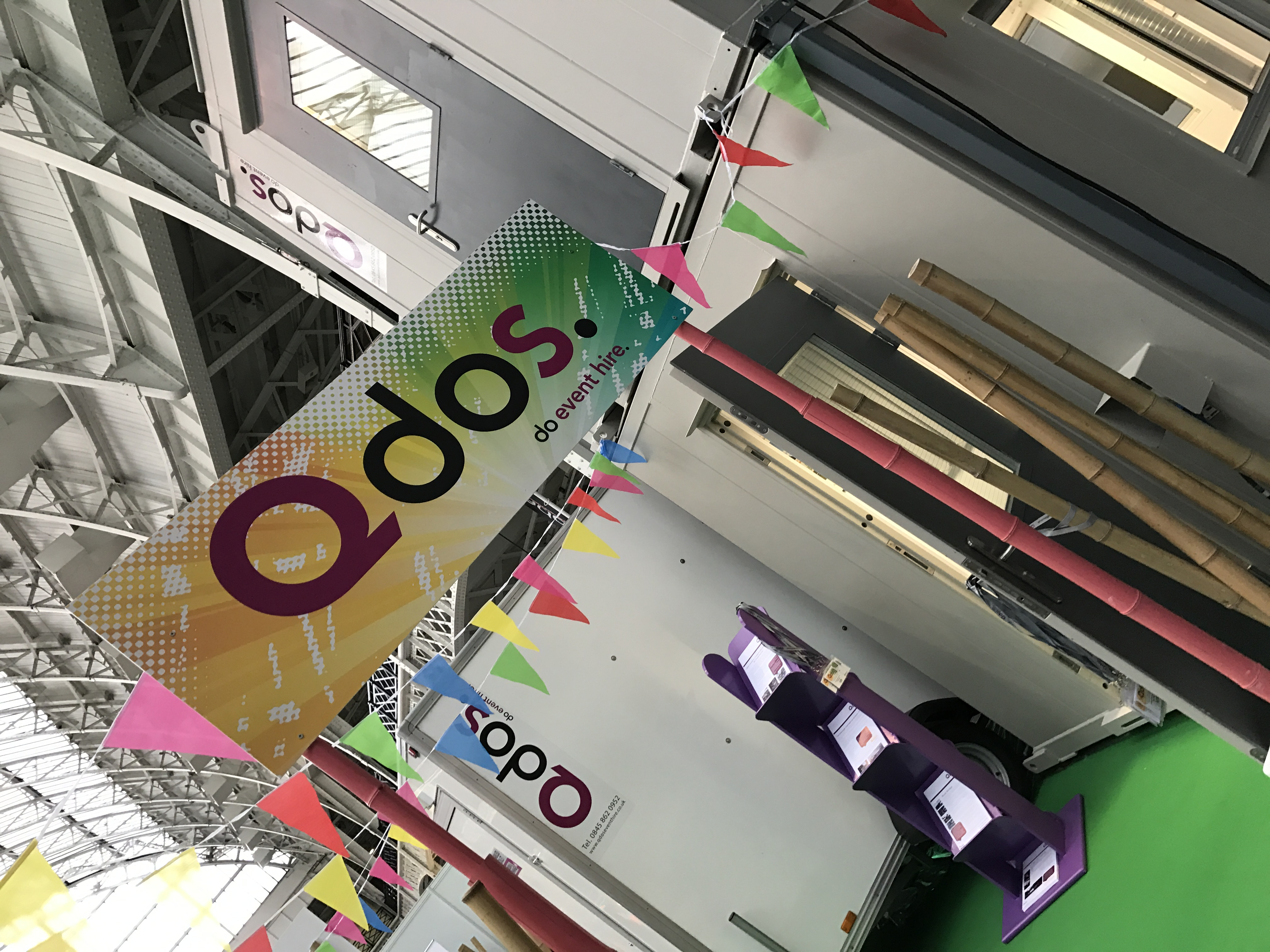 QDOS exhibition stand branding for Event Production Show