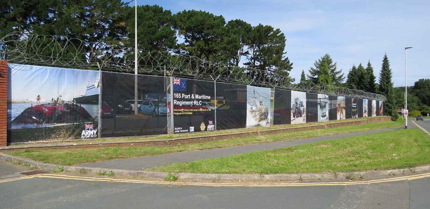 Heras fencing for army reserve