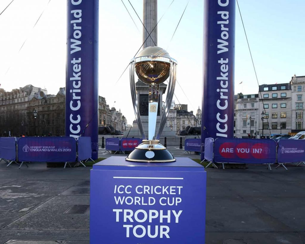 Cricket World Cup: 100 Days to go launch event in Trafalgar Square