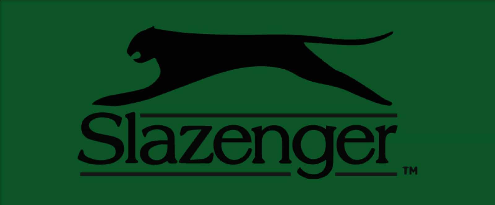 Slazenger Logo on Wimbledon Green Background