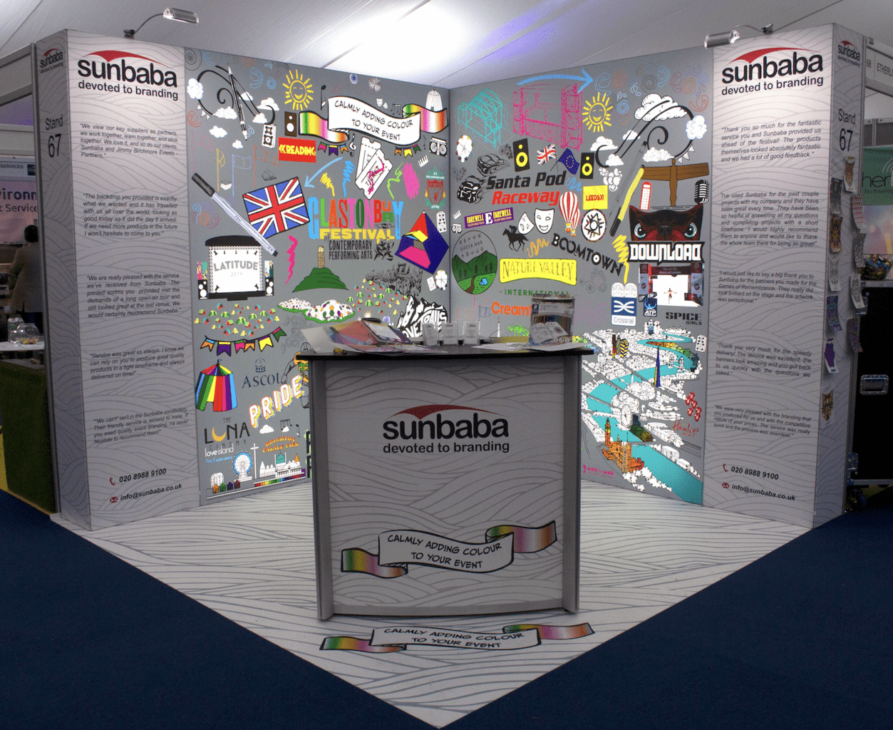 Sunbaba Stand at The Showman's Show